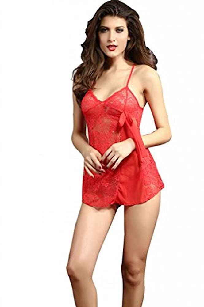 20a144f1a BlissBasket Red Chiffon Lace Babydoll  Amazon.in  Clothing   Accessories