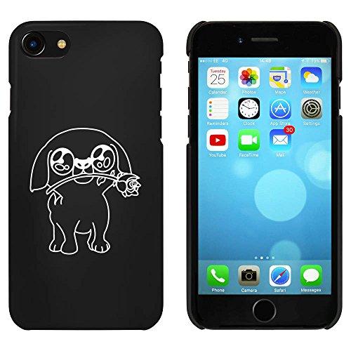 Schwarz 'Mops mit Rose' Hülle für iPhone 7 (MC00055781)
