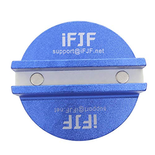 Byenins Large Slotted Universal Magnetic Jack Pad Weld Frame Rail Adapter(Blue) for All Model Cars