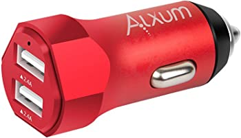 Alxum Portable 4.8A Dual Port Car Charger