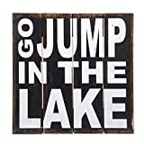 NOVICA Black Hand Made Wood Whimsical Sign, 'Go Jump in The Lake' Review