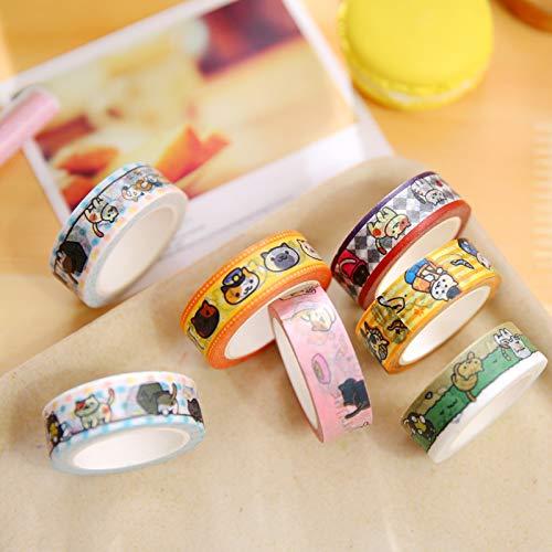 SaveStore 10 pcs/lot DIY Japanese Paper Washi Masking Tapes Neko Cats Decorative Adhesive Tapes Stickers 15mm10m Cute Stationery