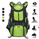 50L Waterproof Backpack Daypack Shoulder Bag for Sport Climbing Mountaineering Fishing Travel Hiking Cycling (50L Green Backpack) For Sale