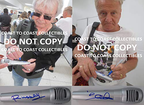 Air Supply Russell Hitchcock Graham Russell signed autographed mic, microphone, COA with the Proof Photos will be incuded. STAR