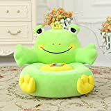 MeMoreCool Well-designed Kids Sofa,Cartoon Green Frog Children Plush Cartoon Sofa,Baby/Kids Chair for Christmas/Children's day Gift