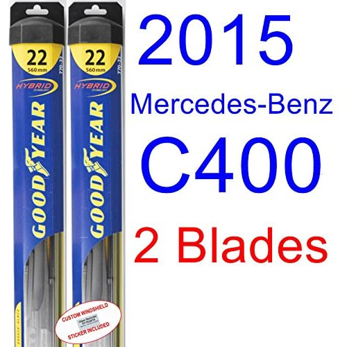 2015 Mercedes-Benz C400 Replacement Wiper Blade Set/Kit (Set of 2 Blades) (Goodyear Wiper Blades-Hybrid) supplier