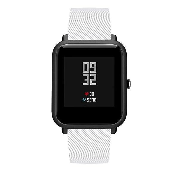 DIPOLA Correa de Reloj para Huami Amazfit Bip Youth Watch Accesorio de Silicona Suave Banda de Reloj Wirstband: Amazon.es: Deportes y aire libre