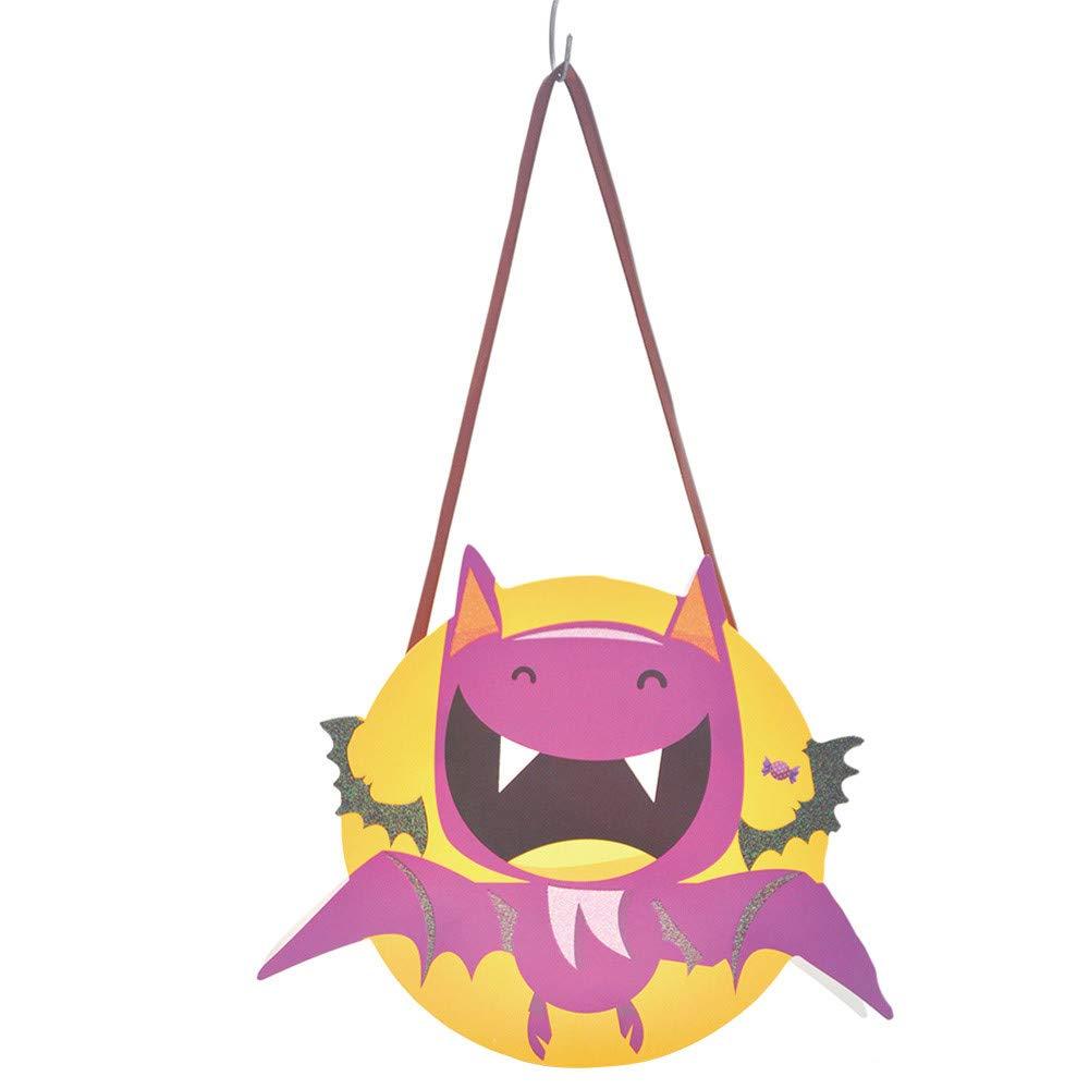 Hongxin Halloween Candy Bag,1PCS Cute Holiday Bat Halloween Trick or Treat Candy Bag Kids Handbag Party Decor (Multicolor, 23.5x19.5cm)