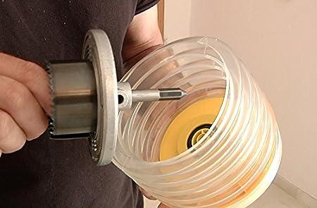 Gui-man 1138/8A Accesorio Recoge Polvo para perforar en el Techo con Sierra de Corona Circular para Madera, Yeso y escayola (Profundidad de Corte 33 mm y ...