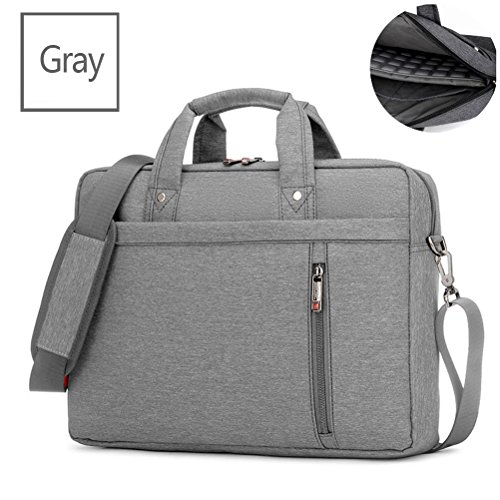 Samaz Shakeproof Nylon Laptop Messenger Shoulder Bag Case Briefcase for 13 - 17 Inch Laptop / Notebook / Ultrabook / Macbook Pro Retina Case (17 Inch, Grey)