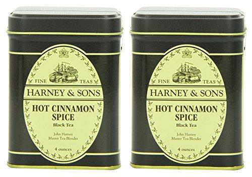 Harney & Sons Hot Cinnamon Spice Loose Leaf Tea, 4 Ounce Tin - Pack of 2