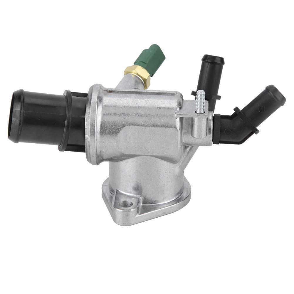 EBTOOLS ABS Aluminiumlegierungsthermostatgeh/äuse mit Sensor Wasserk/ühlmittel OE 55202510 Steuerung der Motortemperatur