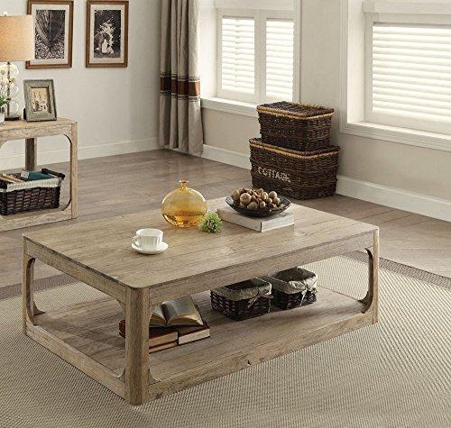 (Acme Furniture Acme 82235 Zaina Coffee Table, Natural Oak)