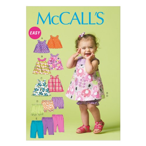(McCall Pattern Company M6912 Infants Reversible Top Dresses Bloomers and Pants, Size YA5)