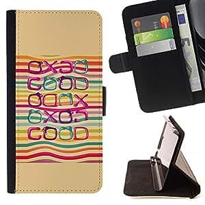 For LG G4 Case , Bueno Cita Positiva Vida LGBT Arco Iris- la tarjeta de Crédito Slots PU Funda de cuero Monedero caso cubierta de piel