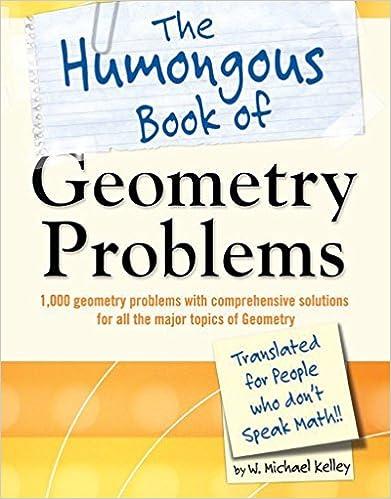 Amazon com: The Humongous Book of Geometry Problems (Humongous Books