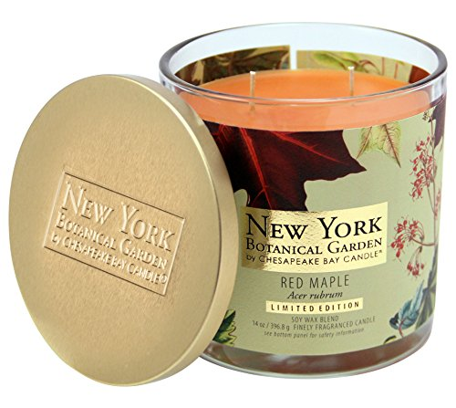 New York Botanical Garden by Chesapeake Bay Candle Decorative 2-Wick Jar with Lid, Red Maple by Chesapeake Bay Candle