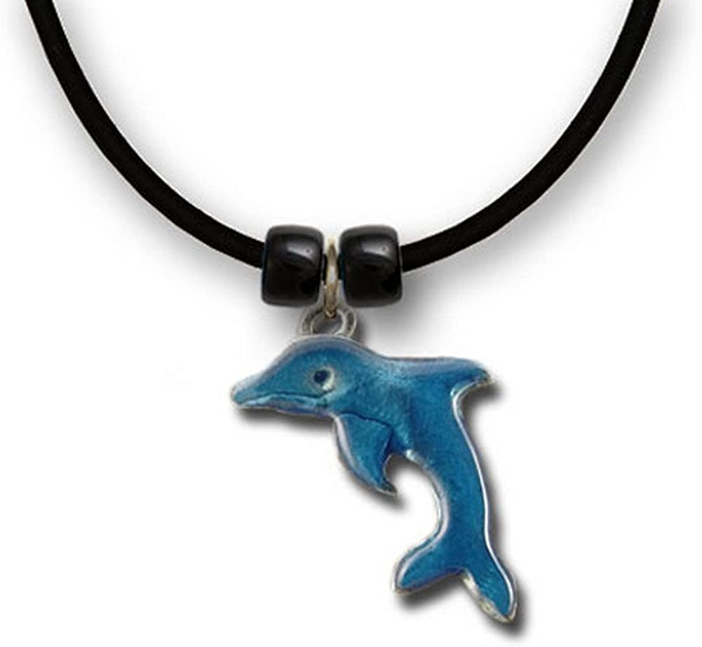 Enamel Dolphin Necklace by The Magic Zoo