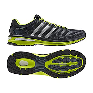 14f677e62b9e55 Adidas Men s Sonic Boost Running Shoes Grey Synthetic and Textile USA 11.5