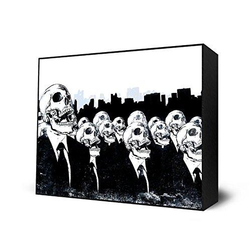 Eyes On Walls We Live no more Mini Art Block Print - 12 X 9 Inches
