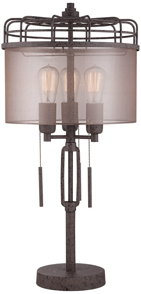 Lock Arbor Industrial Cage Metal Table Lamp