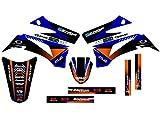 Senge Graphics 2008-2019 Yamaha TTR 125, Surge Blue Graphics Kit
