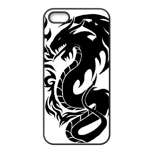 Dragon Tribal 001 coque iPhone 5 5S Housse téléphone Noir de couverture de cas coque EOKXLLNCD19746
