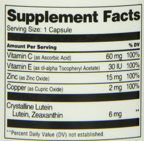 21st Lutein and Capsules, 60