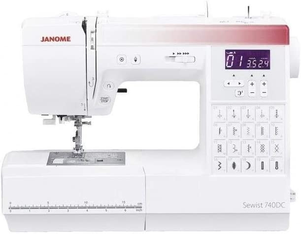 Janome 740DC máquina de coser computarizada. Ahorra 50 € Máquinas de coser