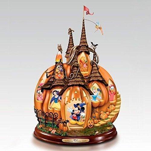 (Disney's Enchanted Pumpkin Castle Illuminated Halloween Sculpture by The Bradford Exchange by Bradford)