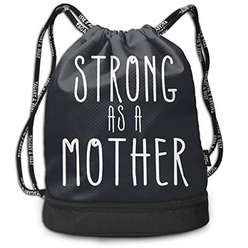 7b34183bf491 Create Magic Weightlifting Be Strong Drawstring Backpack Sports Athletic  Gym String Bag Cinch Sack Gymsack Sackpack with Water Bottle Mesh Pockets
