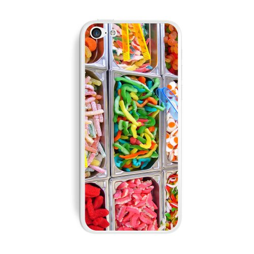 Graphics and More Gummy Gummi Candy Candies Protective Skin Sticker Case for Apple iPhone 5C - Set of 2 - Non-Retail Packaging - ()