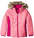 Free Country Girls' Little Puffer Coat with Vestee, Pink Blush, Small/4