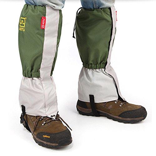AOTU Outdoor Waterproof Windproof Gaiters Leg Protection Guard Skiing Hiking Climbing Mountaineering, Green