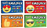 Emojeez Emoji Shaped Gummy Theater Box Variety Pack, 3.5 oz/ 99 gr (Assortment of 4 Different Styles)