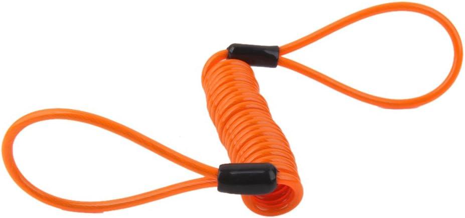 perfk Cable De Bloqueo Del Freno De Disco De La Cuerda De Alambre De Resorte Helicoidal Cord/ón Recordatorio De La Seguridad 2pcs