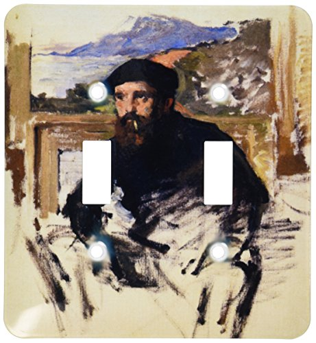 - 3dRose LSP_179216_2 Self Portrait in His Atelier, Claude Monet Painting Dated, Pdus Toggle Switch