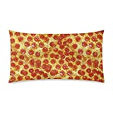 Food Pillow Case - Hipster Pizza Rectangle Pillowcase 20x36 inch One Side Pillow Covers