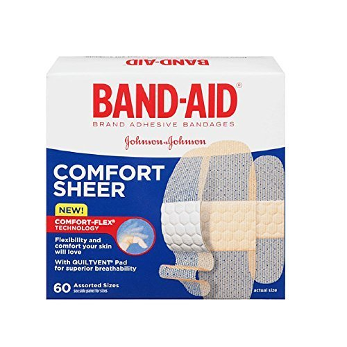 Band-aid Comfort-flex Sheer Adhesive Bandages Assorted, 60 Each (Pack of 3) by Band-Aid