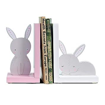 GXYGWJ Creativo Sujetalibros para la Familia Cute Jewelry Bedroom Desk Book by Childrens Room Estantería 21x10x16cm