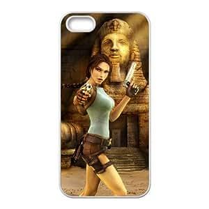 lara croft tomb raider anniversary iPhone 5 5s Cell Phone Case White xlb2-344199