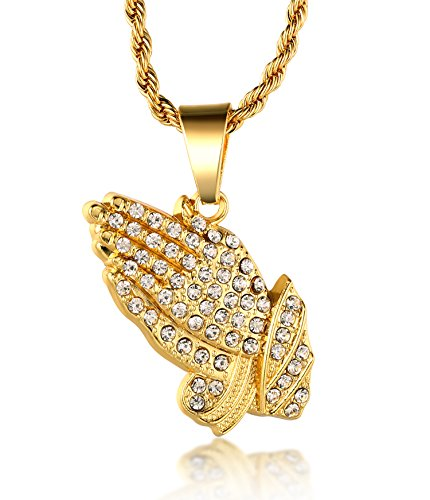 halukakah-18k-real-gold-plated-prayer-hand-pendant-necklacecz-inlaywith-free-rope-chain-30-thick-2mm