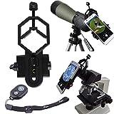 Phone Adapter Mount w/ Bluetooth Remote, Peyou® Universal Monocular Spotting Scope Telescope