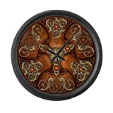 Cheap CafePress – Celtic Shields – Copper Chieftain – Large 17″ Round Wall Clock, Unique Decorative Clock