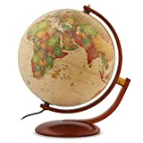 Waypoint Geographic Andorra 12'' Desktop Globe with Multi-Directional Wood Meridian & Base Perfect for Home & Office (Classic Antique) World, Beige, 3.5 Lb