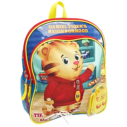 Child Tiger - The Fred Rogers Company Kids' Daniel Tiger 12 Inch Children's Backpack, Blue, One Size