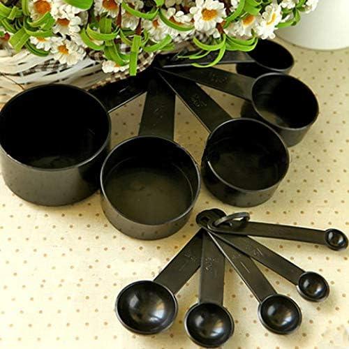 1Tbsp 10Pcs Black Plastic Measuring Spoons Cups Set Tools for Baking Coffee Tea 1//4Sp Black 1//2Sp-1Tsp-1//2Tbsp