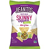Beanitos Reduced Fat White Bean Hint of Lime Skinny Dippers Plant Based Protein Good Source Fiber Gluten Free Non-GMO Vegan Corn Free Tortilla Chip Snack 10 Ounce