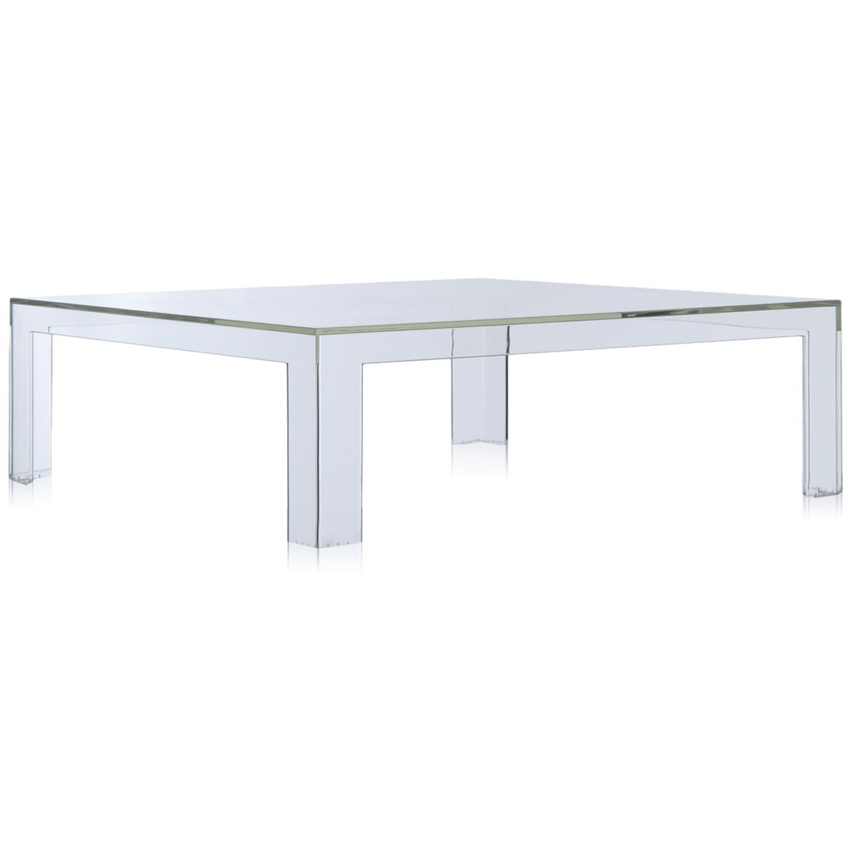 Kartell Invisible Side Table Tavolo, Confezione da 1 Pezzo, Bianco Coprente 5075/E5