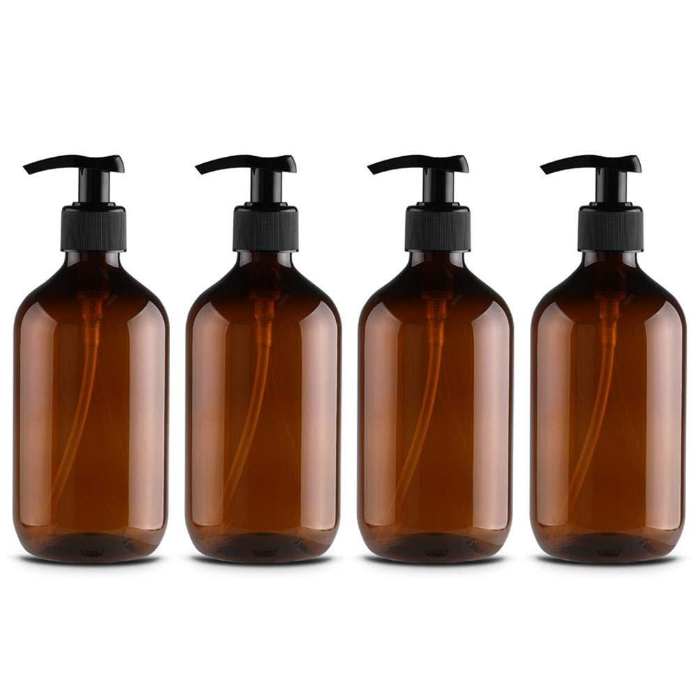 332PageAnn - Dispenser di sapone liquido, con pompa e dispenser, portatile, per shampoo, crema per lavare il corpo, 800 ml, 4 pezzi verde